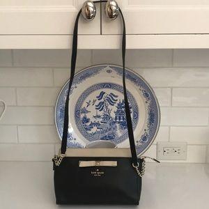 Beautiful Kate Spade Crossbody Black & Tan Bag-EUC